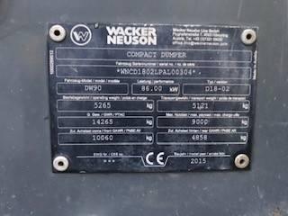 Wacker Neuson DW90, Site dumpers, Construction