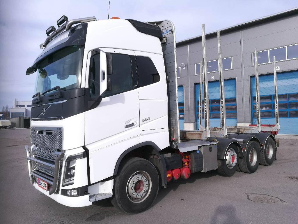 Volvo FH 16 550 Keppivaihde 535tkm, Timber trucks, Transportation