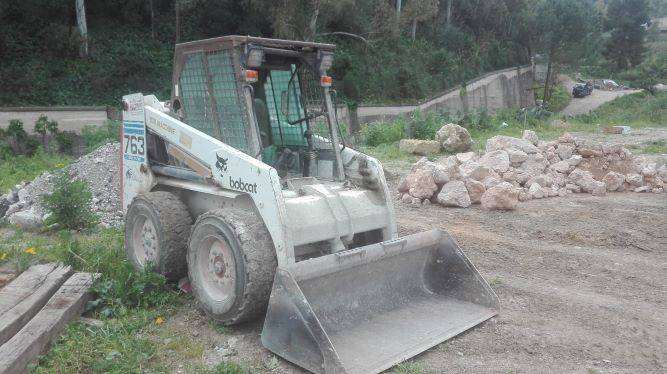 Bobcat 763, Skid steer loaders, Construction
