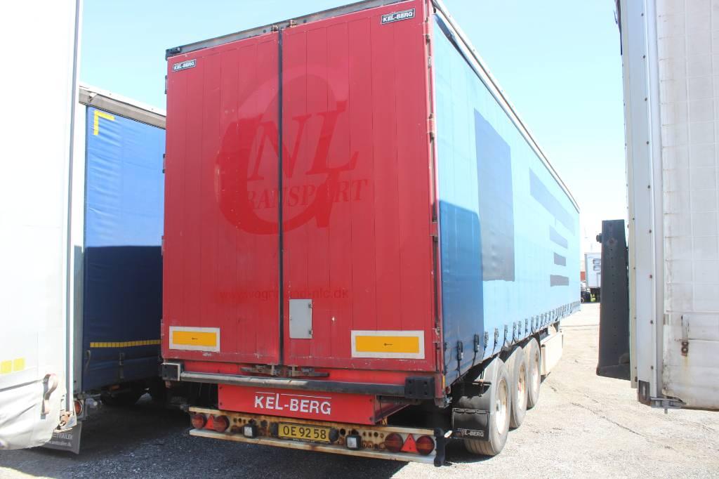 Kel-Berg 3 akslet gardintrailer, Semi-trailer med Gardinsider, Transport