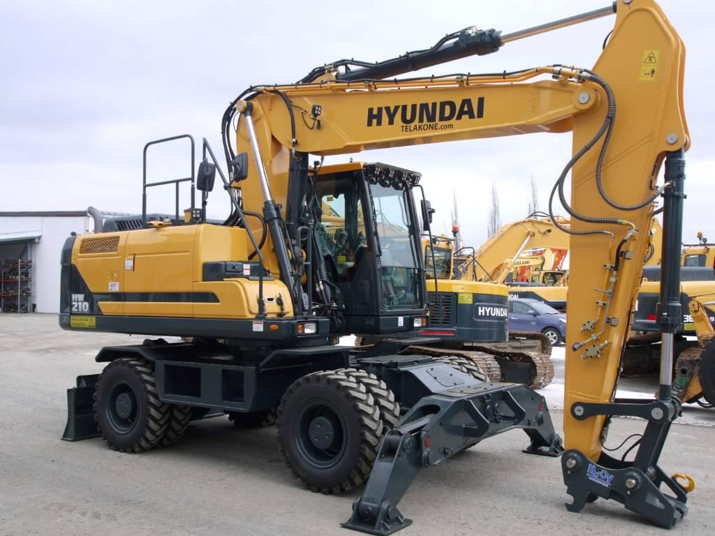 Hyundai HW 210, Pyöräkaivukoneet, Maarakennus