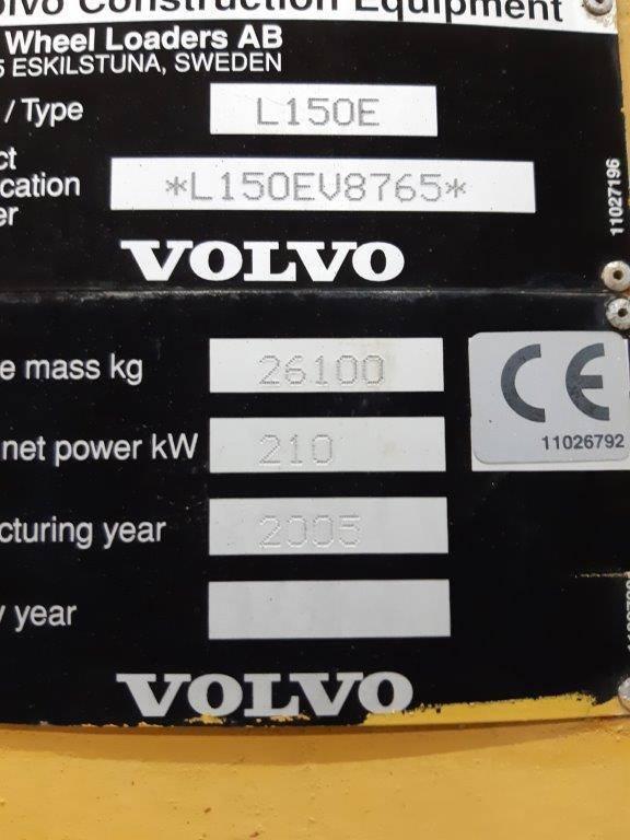 Volvo L 150 E, Cargadoras sobre ruedas, Construcción