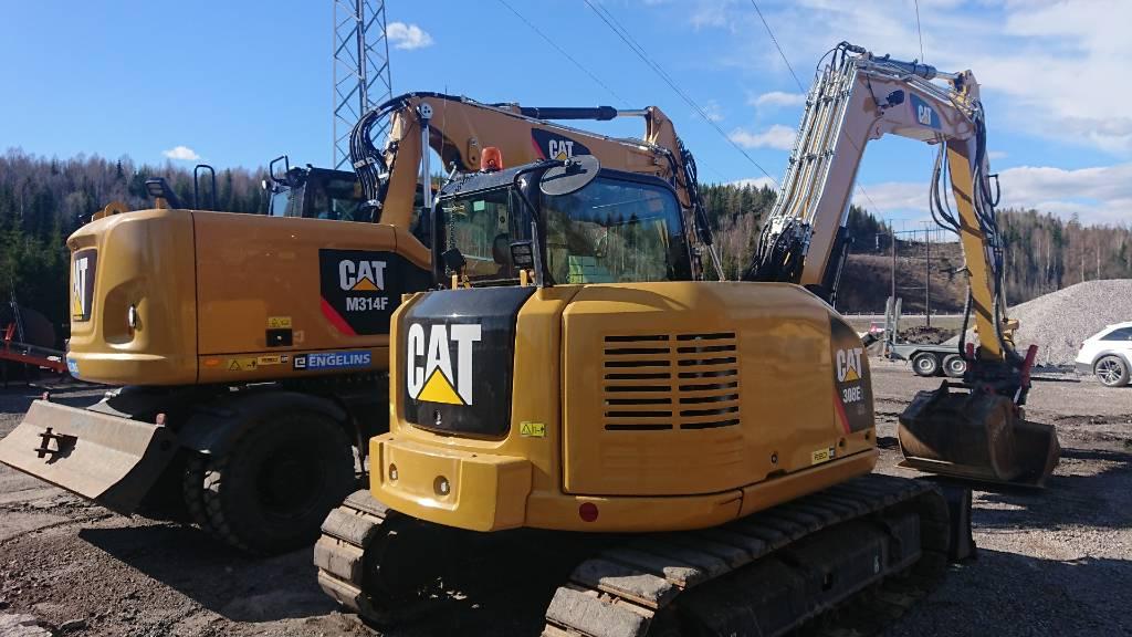Caterpillar 308 E 2 CR, UTHYRES, Midigrävmaskiner 7t - 12t, Entreprenad