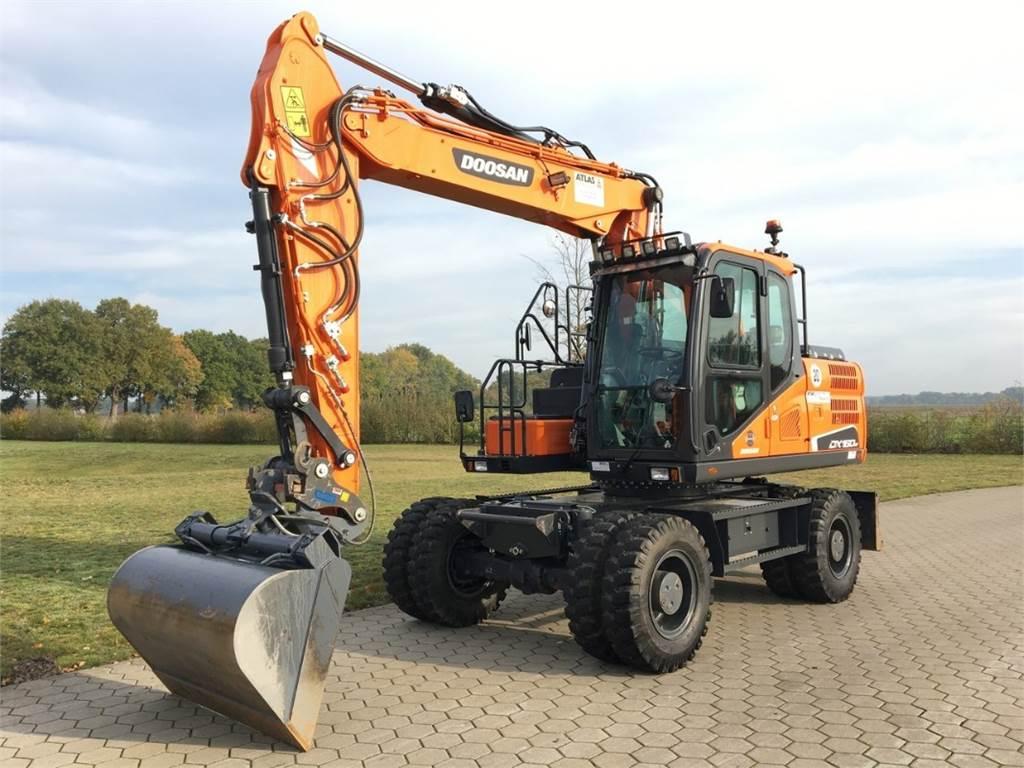 Doosan DX160W-5, Wheeled Excavators, Construction Equipment