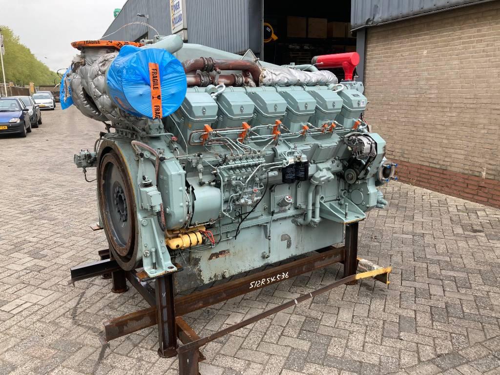 Mitsubishi S12R-MPTK - 1260HP - 1600RPM - Marine Propulsion, Marine Applications, Construction