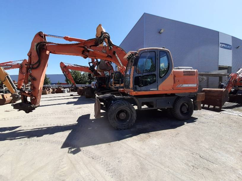 Doosan DX 160 W, Wheeled Excavators, Construction Equipment