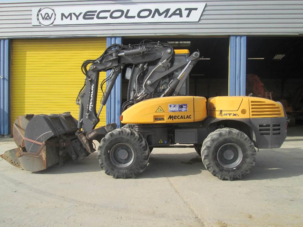 Mecalac 12 M TX, Wheeled Excavators, Construction Equipment
