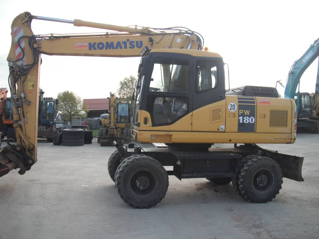 Komatsu PW180-7, Wheeled Excavators, Construction Equipment