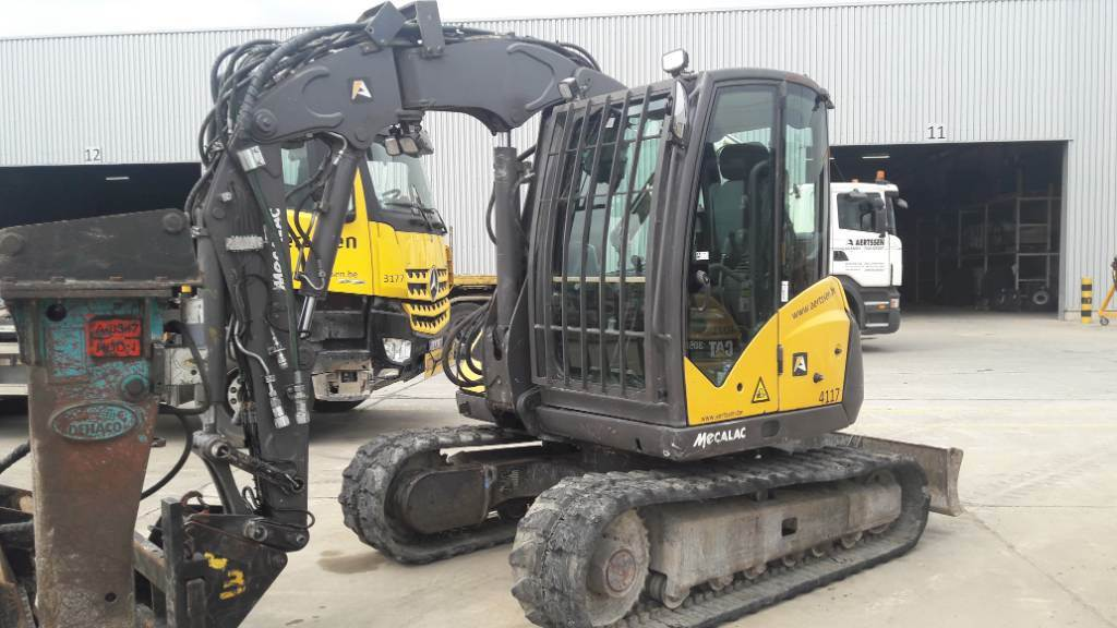 Mecalac 8 M CR, Crawler excavators, Construction
