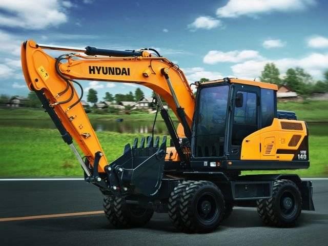 Hyundai HW 140, Bandgrävare, Entreprenad