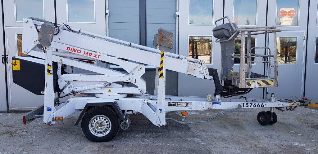 Dino 160 XT, Trailer mounted aerial platforms, Construction