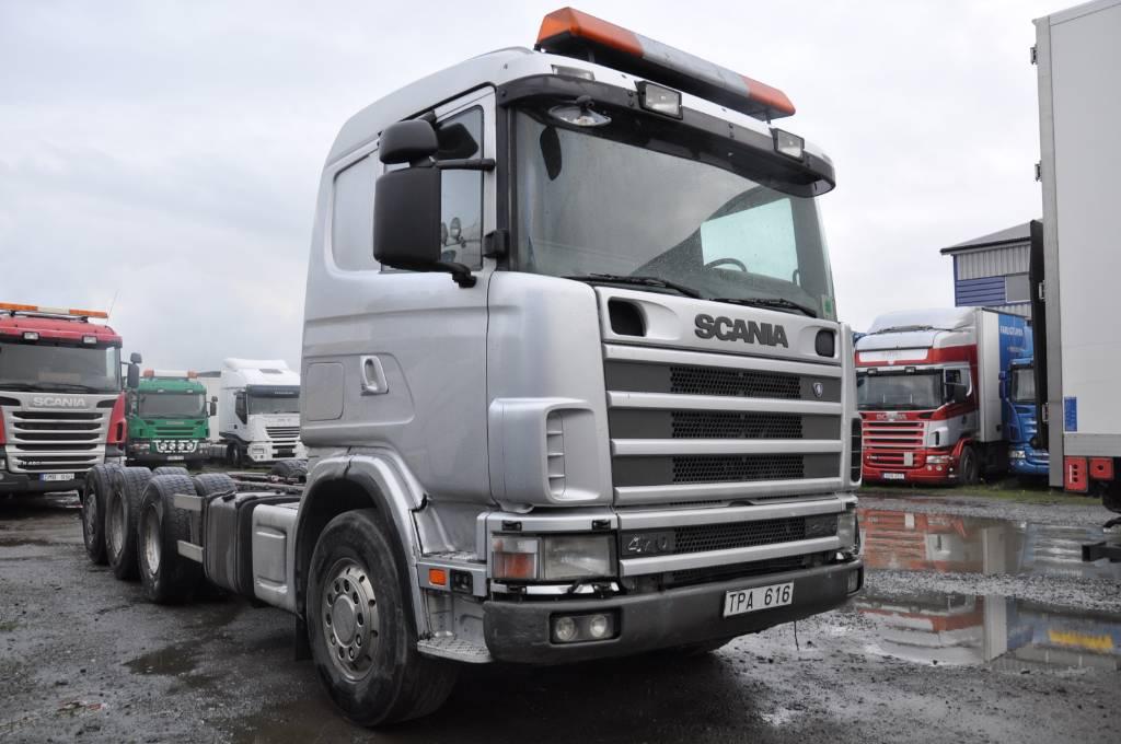 Scania 124 GB8X4 470, Chassier, Transportfordon