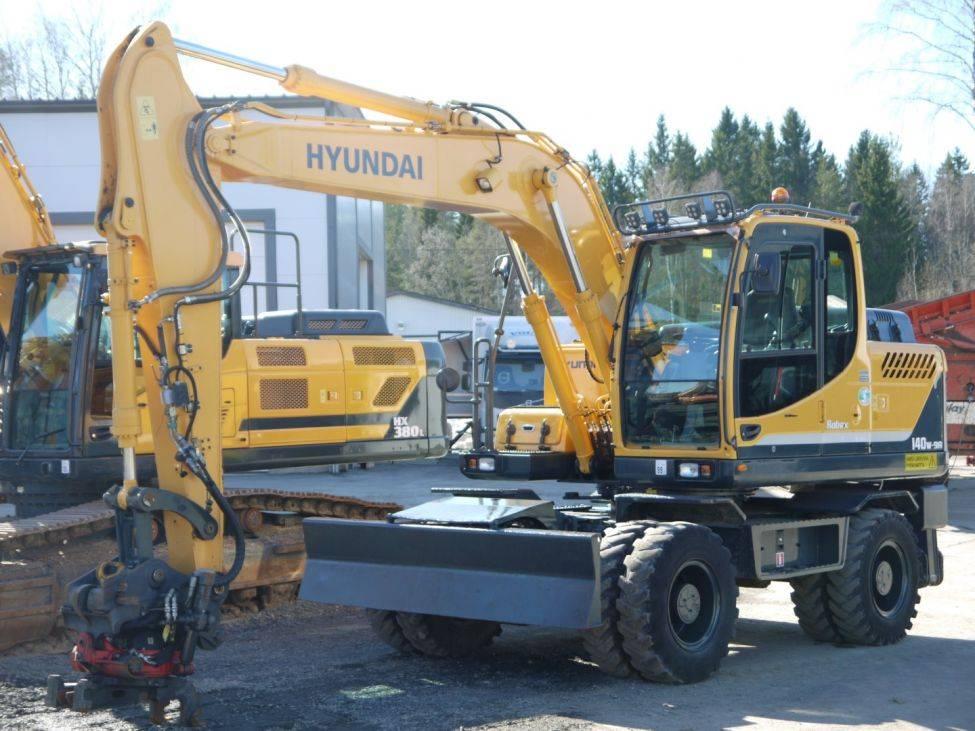 Hyundai Robex 140 W-9 A rototilt, Pyöräkaivukoneet, Maarakennus