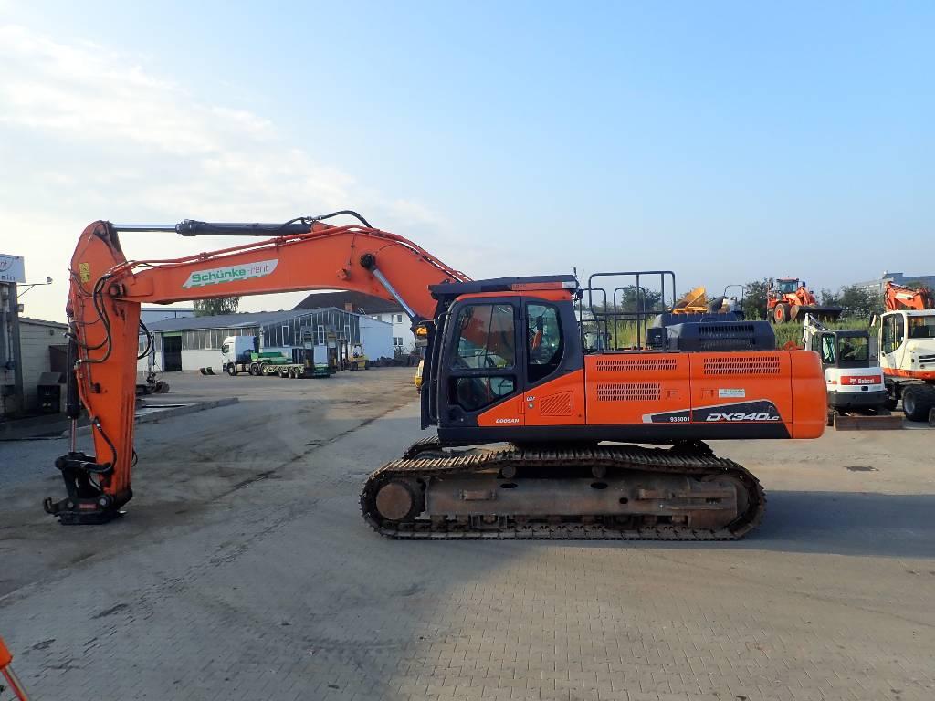 Doosan DX 340 LCN, Crawler Excavators, Construction Equipment