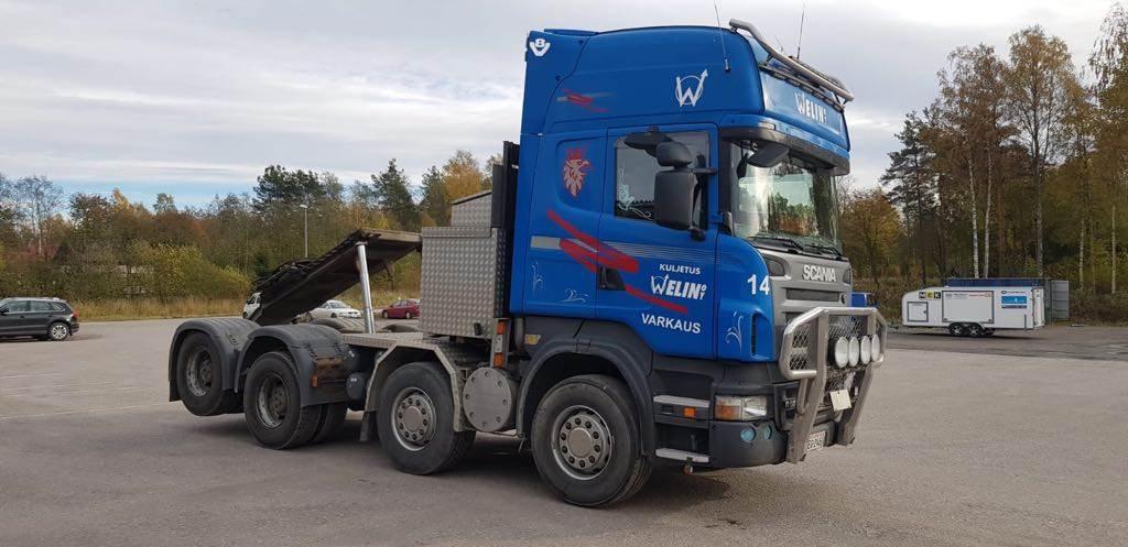 Scania R620, Vetopöytäautot, Kuljetuskalusto
