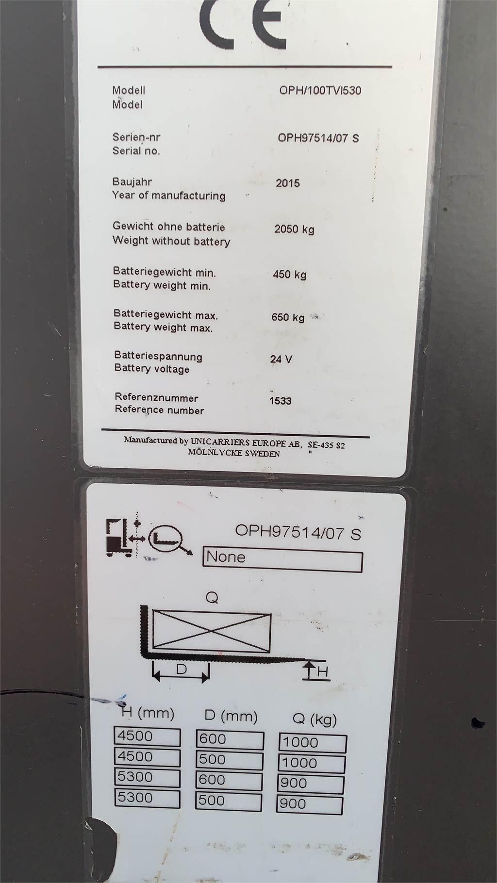 UniCarriers OPH100TVI530, Mittelhub-Kommissionierer, Flurförderzeuge