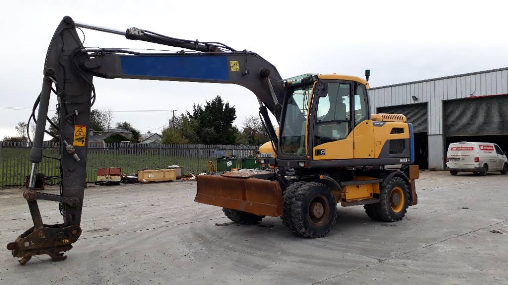 Volvo EW 160 D, Wheeled Excavators, Construction Equipment