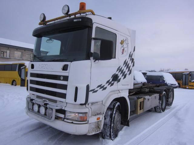 Scania R 144 GB, Konksliftveokid, Transport