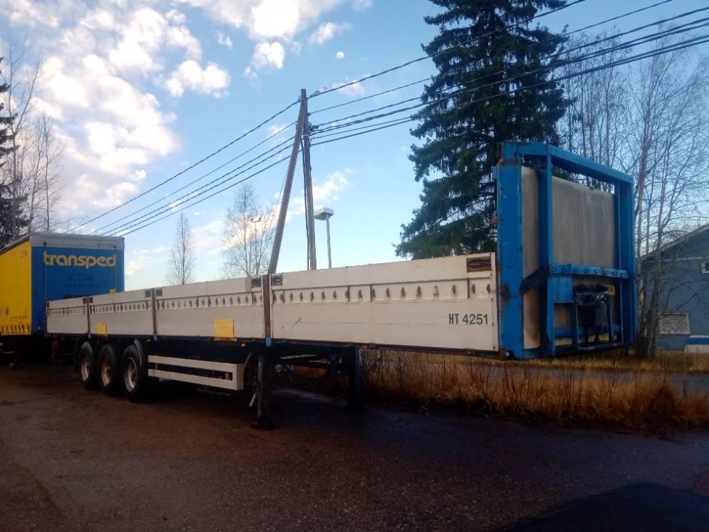 Närko alumiinilaidat, Lavapuoliperävaunut, Kuljetuskalusto