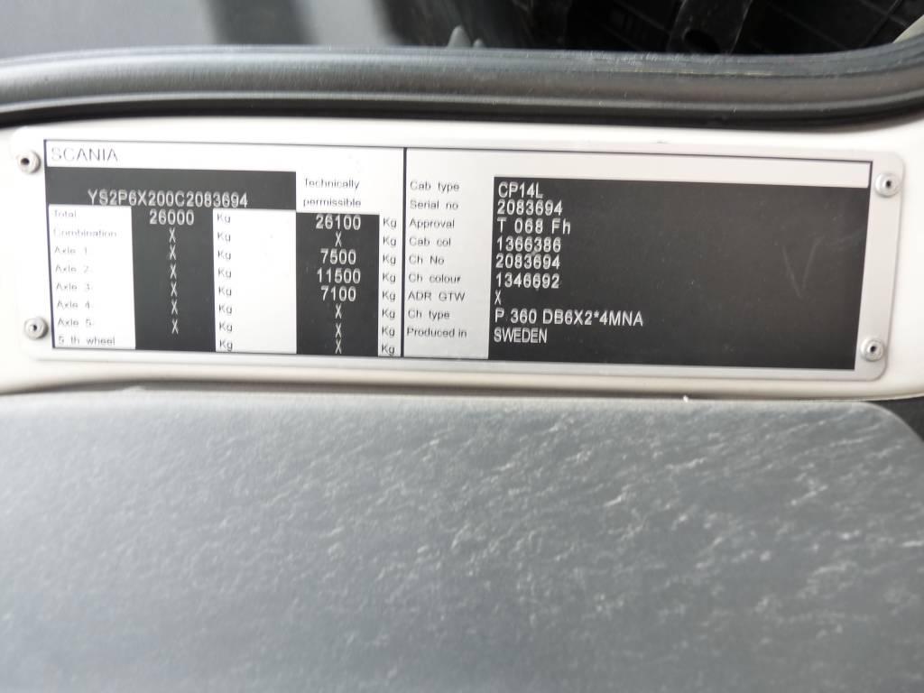 Scania P 360 6X2, FRC-kori + PL, Kylmä-/Lämpökori kuorma-autot, Kuljetuskalusto