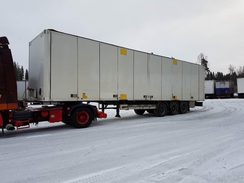Ekeri Kapellikattopuoliperävaunu/ EGT252/Sisäk. 2,80m, Box body semi-trailers, Transportation