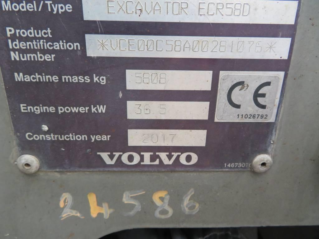 Volvo ECR 58 D, Minigraafmachines < 7t, Bouw