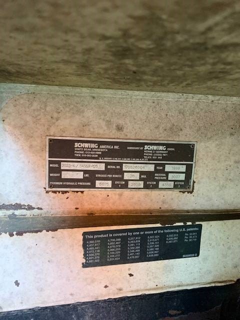 Schwing 45M, Boom Pumps, Construction Equipment