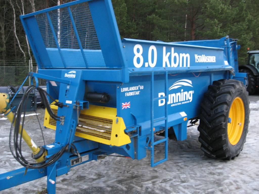Bunning fastgödselspridare ST-80-480, Fast- och kletgödselspridare, Lantbruk