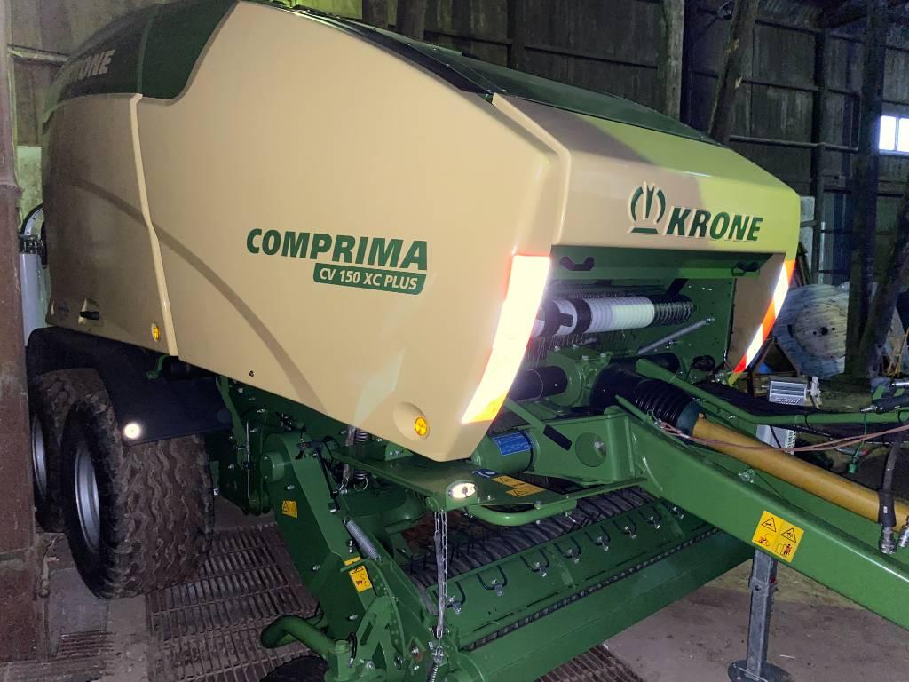 Krone Comprima CV 150 XC Plus, Rundbalspressar, Lantbruk