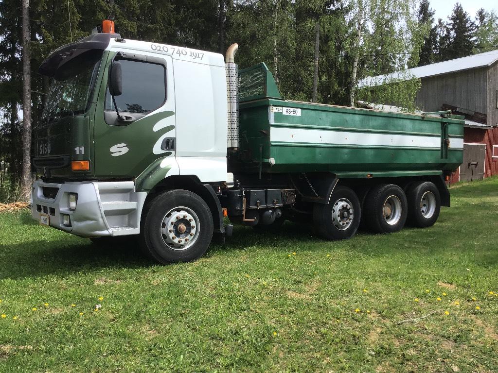 Sisu E11 + Perävaunu*asiakkaan lukuun*, Dump Trucks, Trucks and Trailers