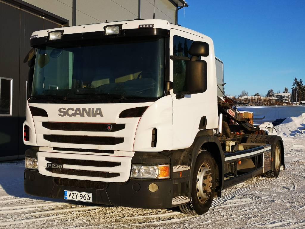 Scania P 230 4x2 Multilift vaijerilaie, Vaihtolava-autot, Kuljetuskalusto