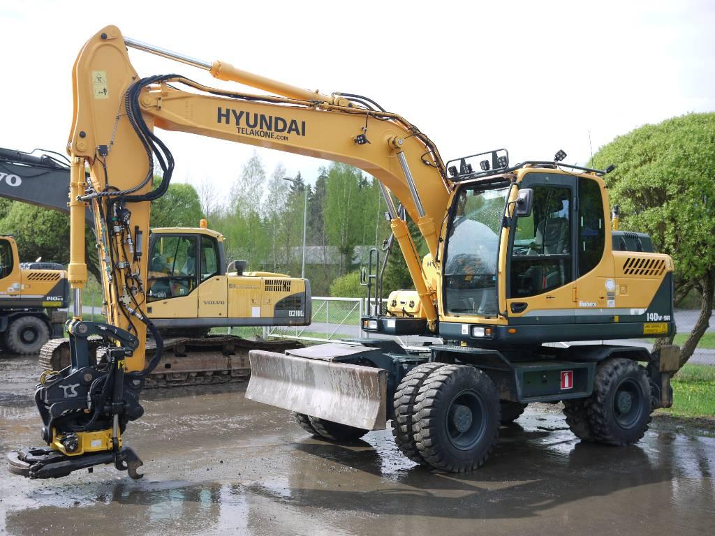 Hyundai R 140W-9A, Pyöräkaivukoneet, Maarakennus
