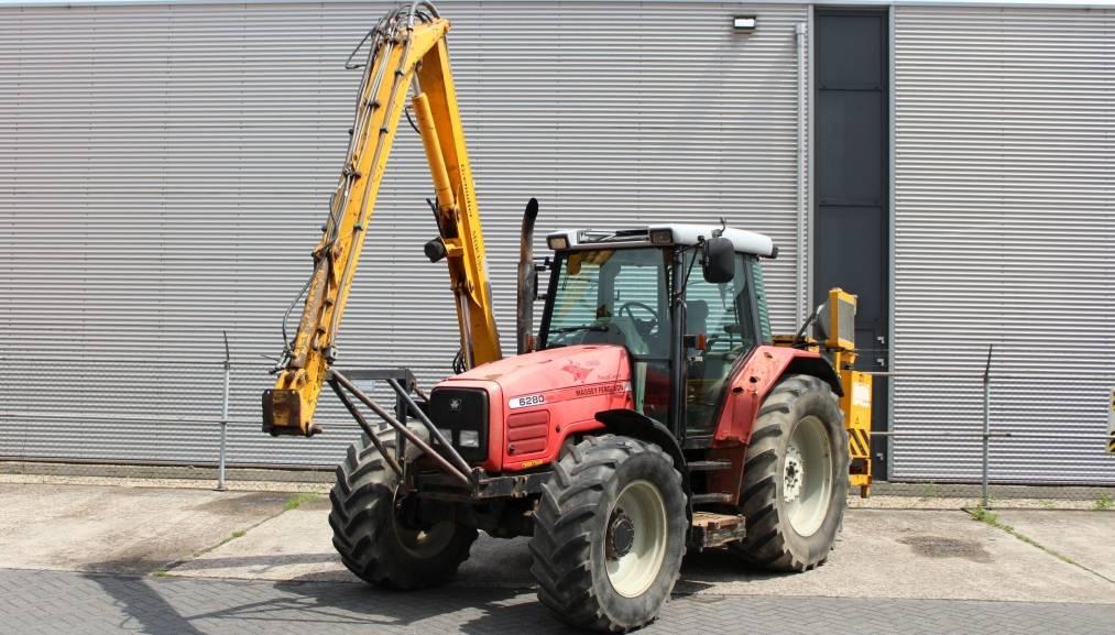 Massey Ferguson 6280 met Herder Grenadier MBK 135 S maaiarm, Tractoren, Landbouw