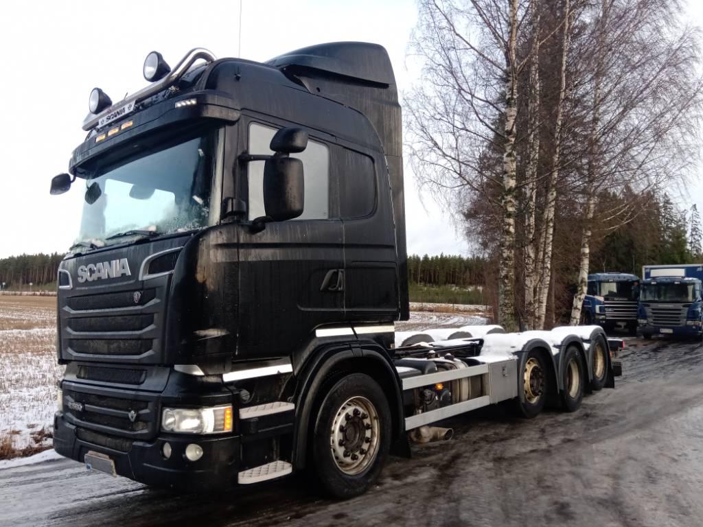 Scania R560 8x2 täysilmajouset,hydrauliikka, Kuorma-autoalustat, Kuljetuskalusto