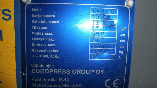 Europress Combio 17m3 Lumikko kylmäkone biojätteel, Jätepuristimet, Maarakennus