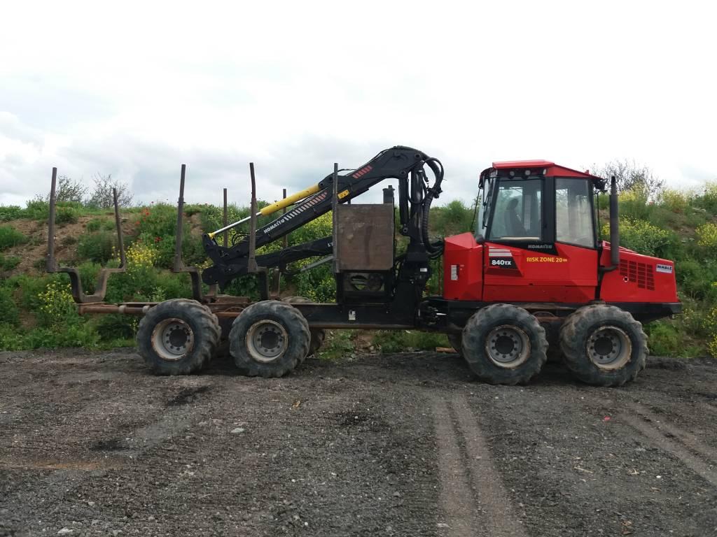 Komatsu 840TX, Forwarders, Forestry Equipment