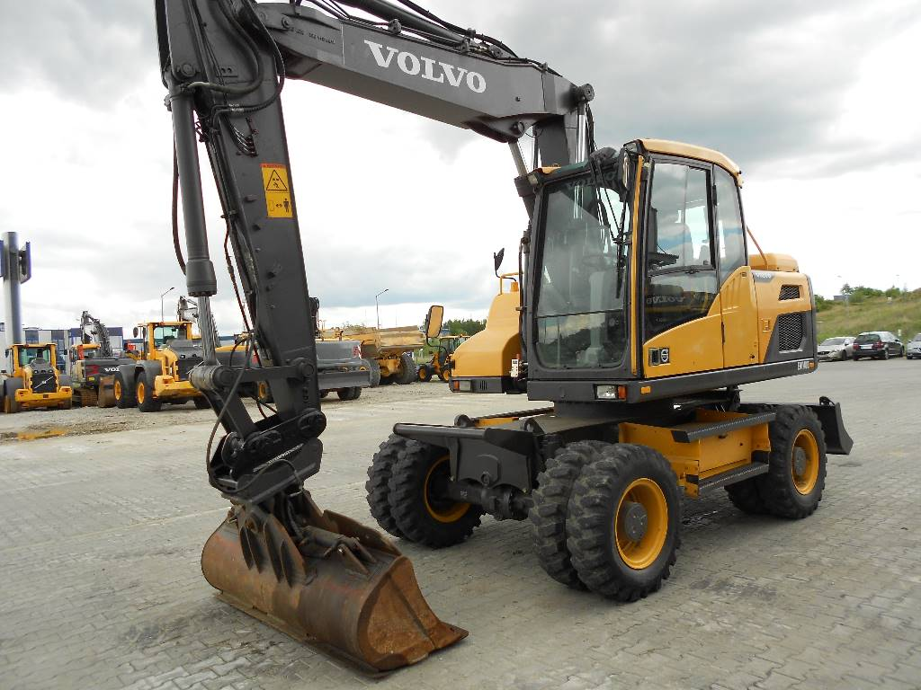 Volvo EW140D, Wheeled Excavators, Construction Equipment