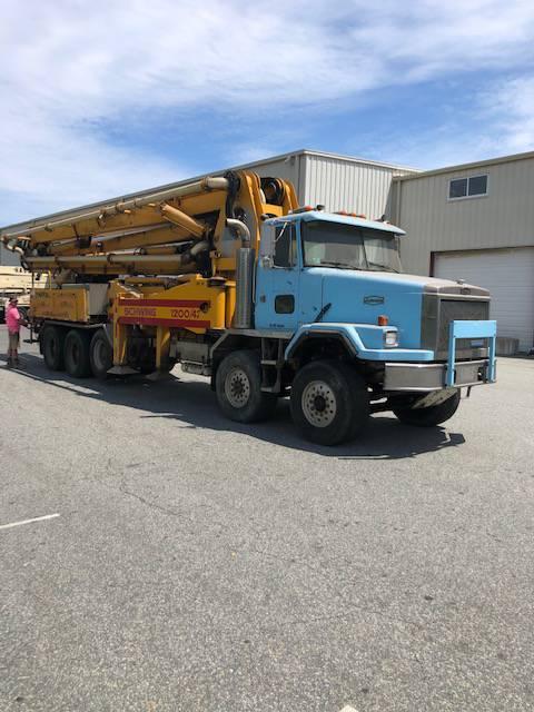 Schwing 1200 42, Boom Pumps, Construction Equipment