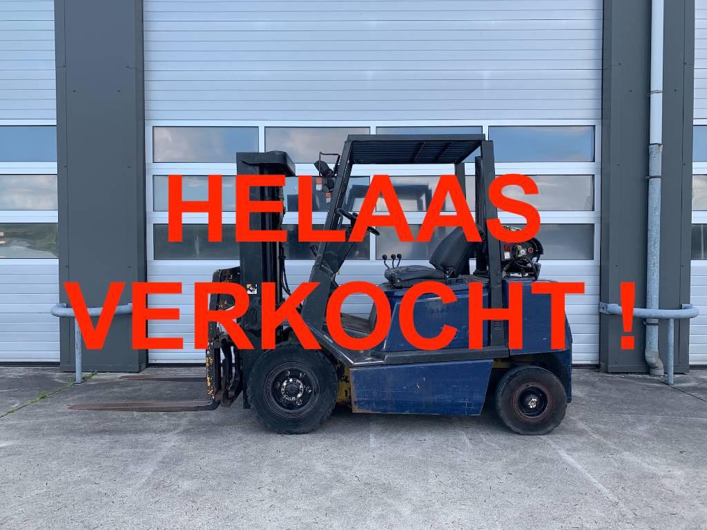 -VERKOCHT- Yale 2,5 ton LPG machine 2.5 gas heftruck Yale GLP25 fo, LPG heftrucks, Laden en lossen