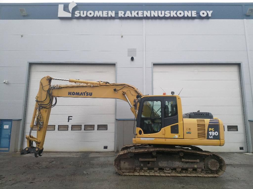 Komatsu PC190LC-8, Crawler Excavators, Construction Equipment