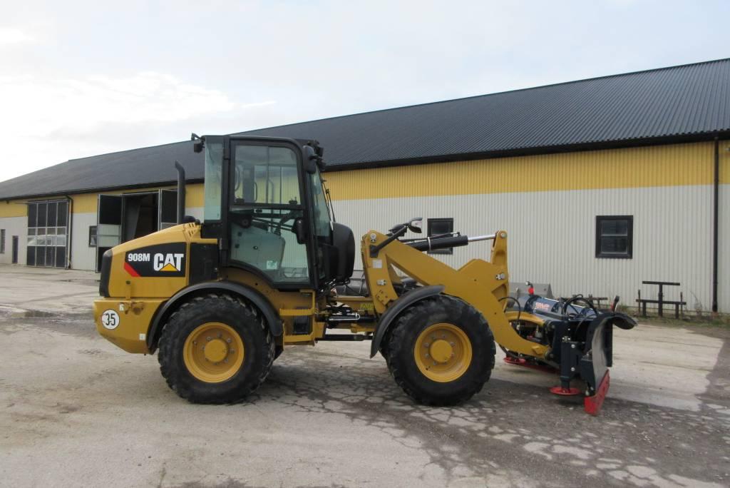 Caterpillar 908M lastmaskin, 35 km/h, 900 tim, Hjullastare, Entreprenad