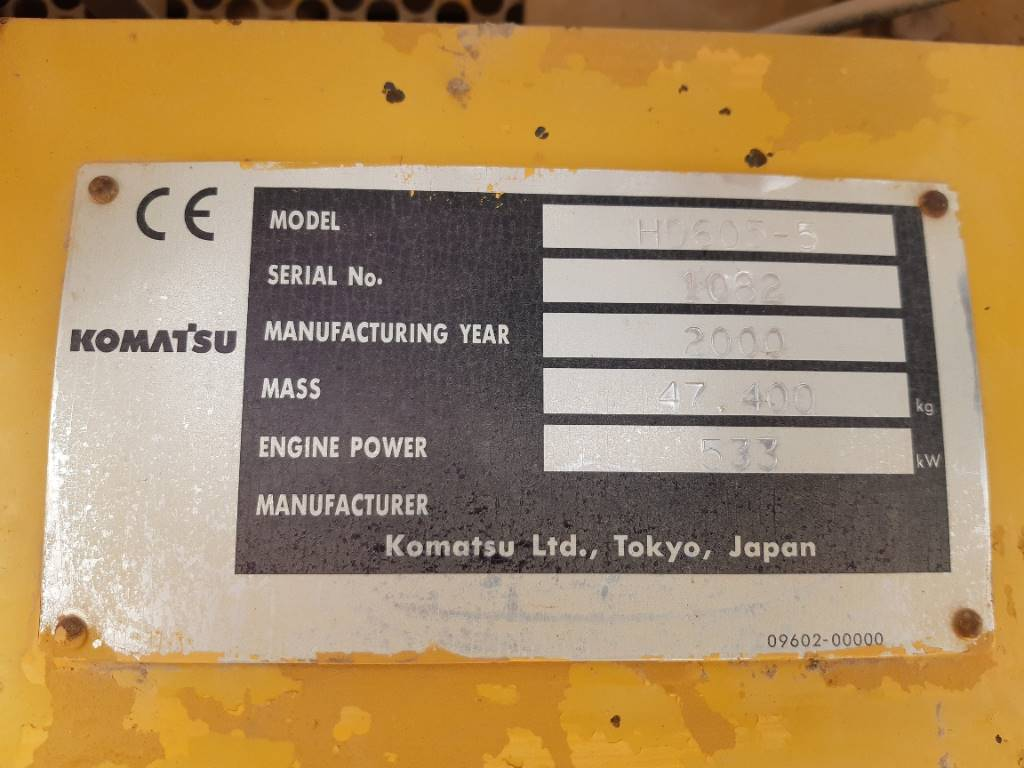 Komatsu HD605-5, Rigid dump trucks, Construction Equipment