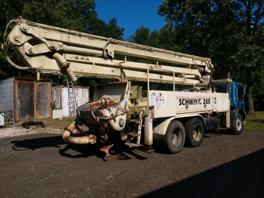 Schwing 28M, Boom Pumps, Construction Equipment