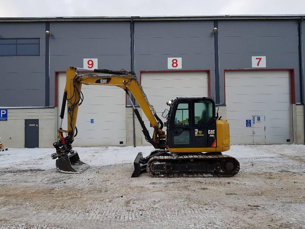 Caterpillar 308ECR, Малые экскаваторы 7т-12т, Строительная техника