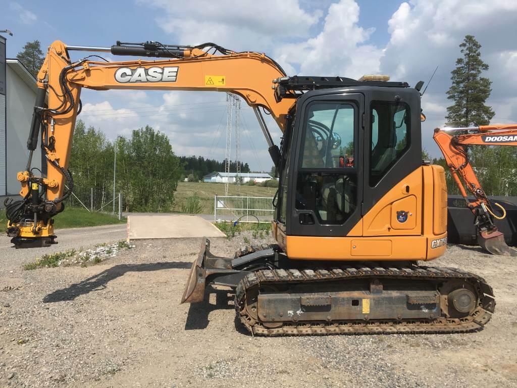 CASE CX75C SR, Midigrävmaskiner 7t - 12t, Entreprenad