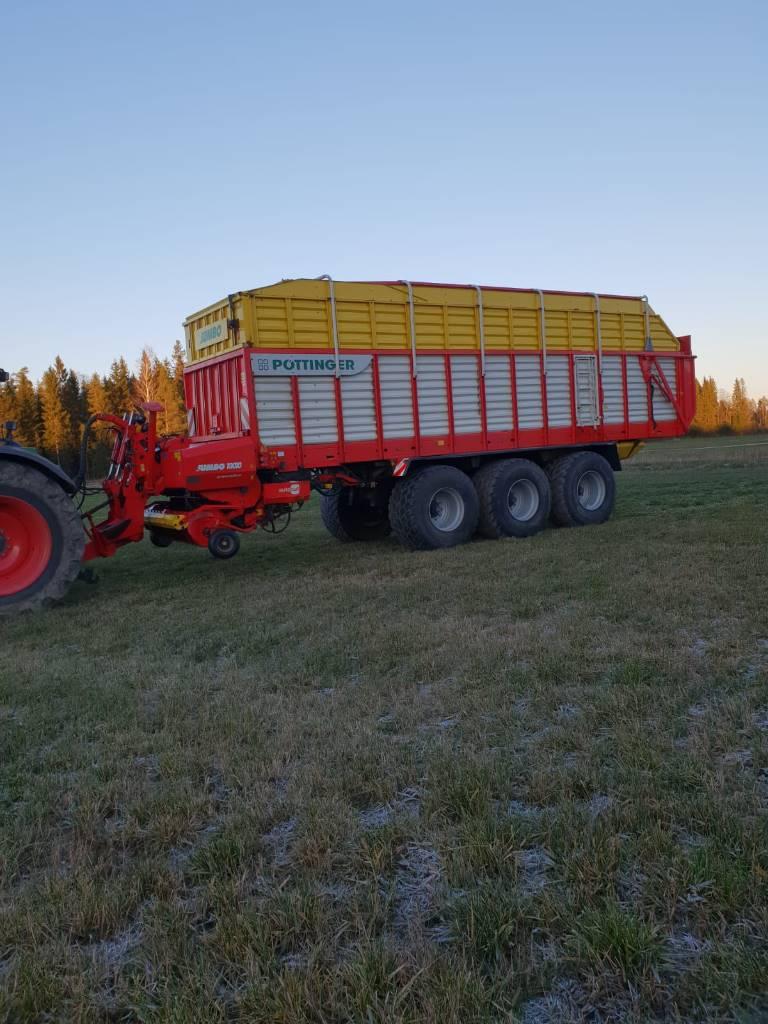 Pöttinger Jumbo 10010, Keräävät noukinvaunut ja silppurivaunut, Maatalous