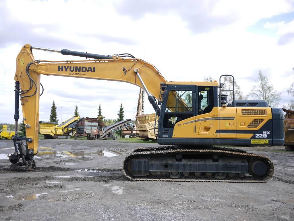 Hyundai HX 220 L, Telakaivukoneet, Maarakennus