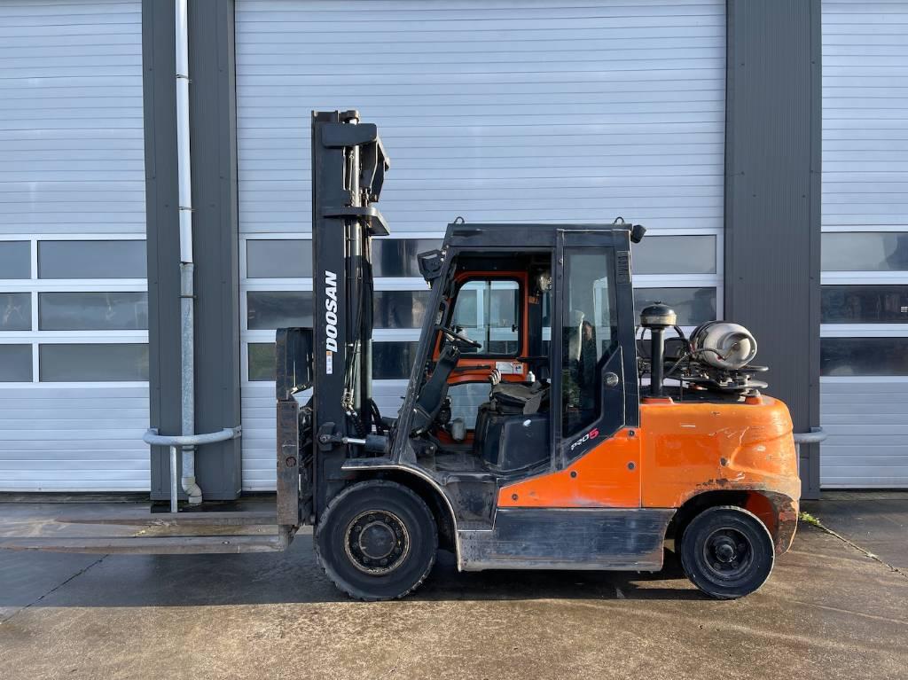 Doosan G50C-5 LPG heftruck 5 ton Forklift, LPG heftrucks, Laden en lossen