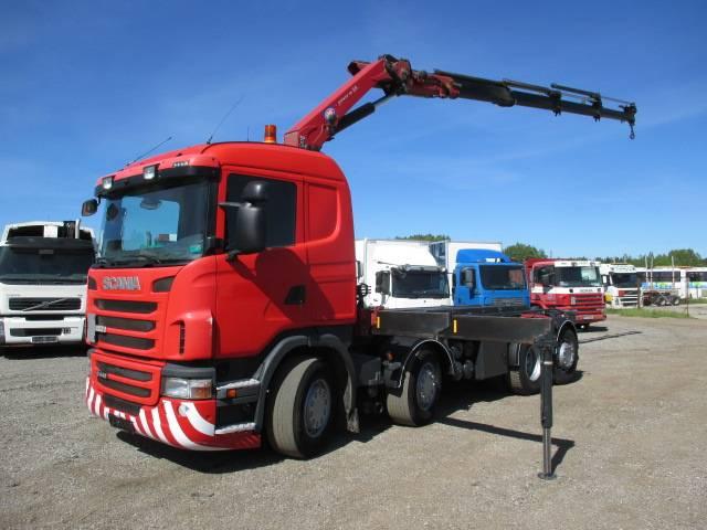 Scania G440 8x2 HMF2020 + roll-off tipper, Boom / Crane / Bucket Trucks, Trucks and Trailers