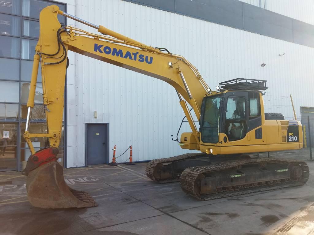 Komatsu PC210LC-8, Crawler Excavators, Construction Equipment